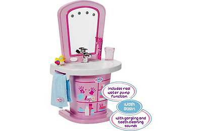 Baby Born Interactive Light and Sound Wash Basin Playset includes Accessories.