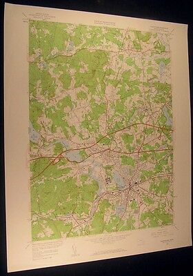 Framingham Mass. Raceland The Mountain 1959 vintage USGS original Topo chart map