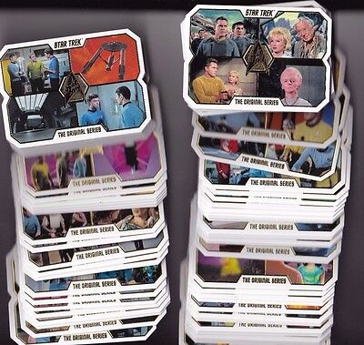 2016 Rittenhouse Star Trek 50th Anniversary Complete Trading Card Set 1-80