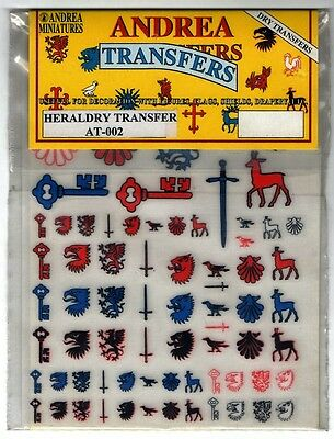 Andrea Miniatures At-002 Dry Transfers - Heraldry Transfer