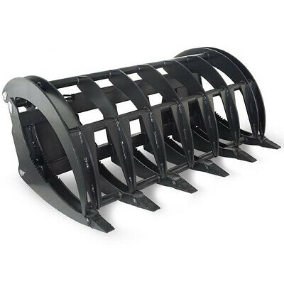 "72"" HD Root Grapple Rake Clam Attachment Bucket for Skid Steer, and Tractor"