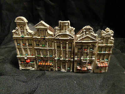 Tiny Handmade Houses Set of 5 Signed by M. De Paeow Brussells