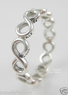 b52b81f58 INFINITE SHINE Genuine PANDORA Sterling Silver INFINITY SIGN Band RING 7/54  NEW