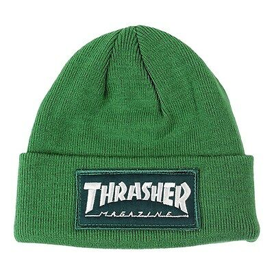 Thrasher Magazine SKATE MAG PATCH Cuff Beanie GREEN