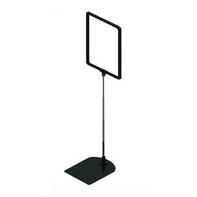 Retail ticket frame A4 black sign holder display stand metal and plastic