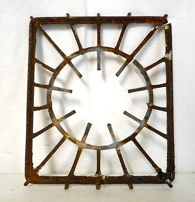 Vintage Metal Stove Top Burner Grate Found Object Wall Art Steampunk Upcycle