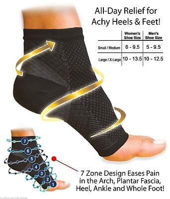 Adult Unisex Ankle Compression FOOT ANGEL 1 Sleeve Arch Heel Pain Relief Support