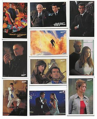 2016 James Bond Classics The World Is Not Enough 72 card base set + P1 Promo