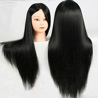 New Salon Hairdressing Cosmetology 60cm Long Hair Training Head Mannequin+Clamp