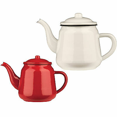 900ml Or 2200ml Enamel Teapot Vintage Loose Leaf Tea Coffee Pot Kettle Rustic