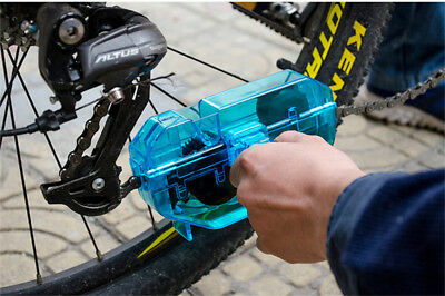 Cycling Bike Bicycle 3D Chain Cleaner Quick Clean Tool Brushes Scrubber Degrease