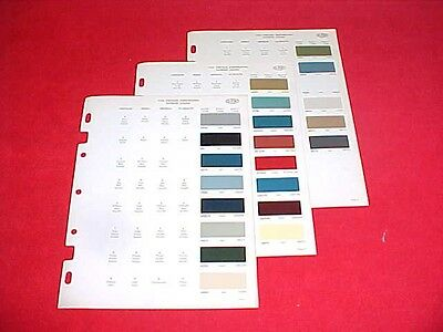 1968 Plymouth Dodge Mopar Charger Roadrunner Color Chart Paint Chips Brochure 68