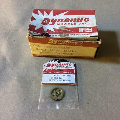 Vintage NOS DYNAMIC SPUR GEARS Box Lot - 36 Tooth 5-40 #834 Brass - SLOT CAR
