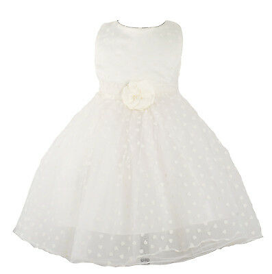 New Ivory Christening Party Flower Girl Pageant Dress 9-12 Months