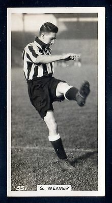 PATTREIOUEX FOOTBALLERS IN ACTION 1934 S. WEAVER-NEWCASTLE UNITED No.55