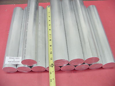 "12 pieces 2"" ALUMINUM ROUND 6061 ROD 12"" long 2.00"" Solid NEW Lathe Bar Stock"