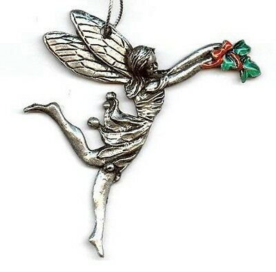 Ivy Fairy Hanging Ornament - Pewter