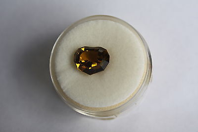 4.08ct HEART SHAPE GOLDEN-BROWN GARNET (VAL $785 AUD) # 22195