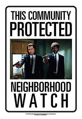 This Community Protected By Pulp Fiction Movie Photo Tin Sign Poster NEW UNUSED