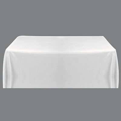 Satin Tablecloth Cover for Wedding Restaurant Banquet Decor White