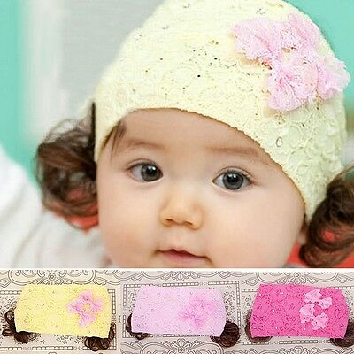 Newborn Girls Kids Baby Toddler Infant Lace Bow Headband Hair Band Accessories