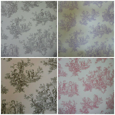 Toile De Jouy Wallpaper - Provencale Lovers Wallcoverings - Shabby Chic Decor