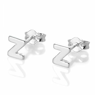 925 Real Sterling Silver Alphabet Letter Stud Earrings Initial Studs Letters
