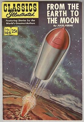 Classics Illustrated #105 Spring 1971 VF From the Earth to the Moon