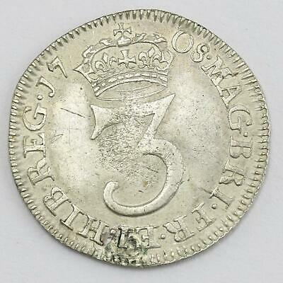 1713 Queen Anne Maundy 3d threepence Coin