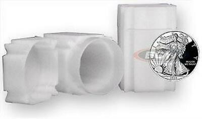 5 New CoinSafe Square Silver American Eagle Size Archival Safe Coin Tubes tube