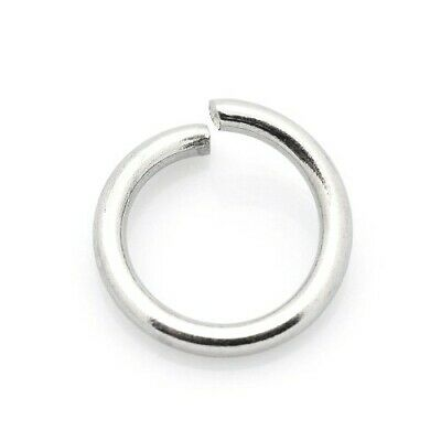 Packet of 100+ Silver Stainless Steel 1.2 x 6mm Jump Rings Y01945