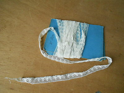 """French OLD TRIM EDGING FINE LACE  100"""" long"""