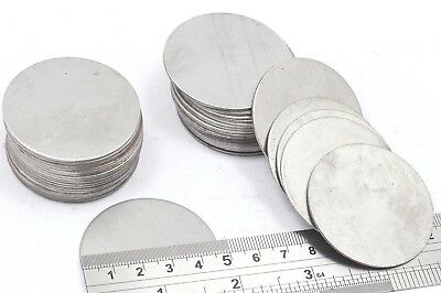 47 mm Dia Mild Steel Blank Round Discs Made in England MIG Welding Car Patching