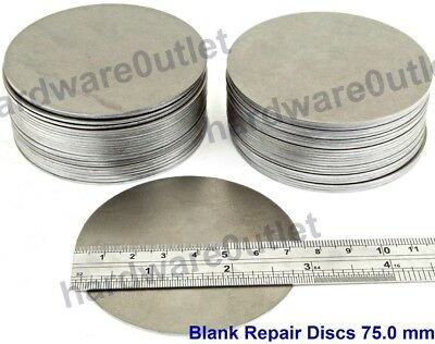 75mm Dia Mild Steel Blank Round BLANK DISCS Car Repair Welding Practice Patching