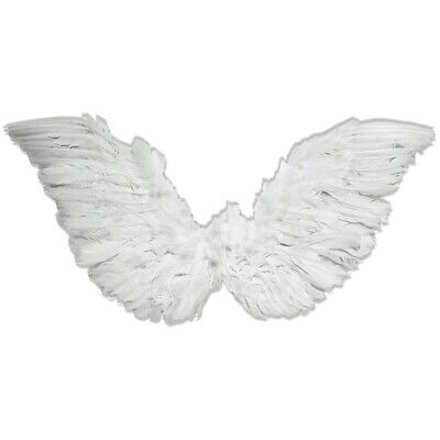Small Club Wings Costume Acsry Adult White Feather Angel Halloween Fancy Dress