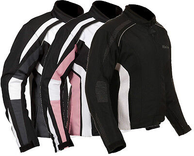 Weise Gemma Black, White, Pink Ladies Textile Motorcycle Jacket RRP £129.99