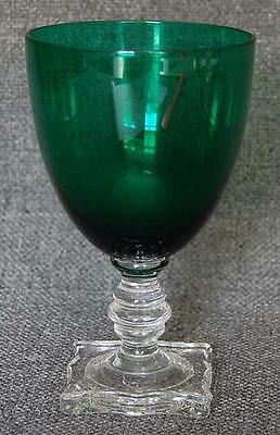 Lovely Seneca Morgantown Emerald Green Water Goblet - 9 Available