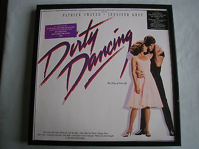 DIRTY DANCING LP cover framed for wall mounting black/silver/walnut