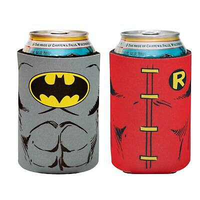DC Batman And Robin Koozie 2 Pack Red