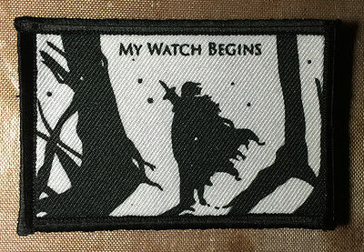 Game of Thrones Jon Snow Nights Watch Morale Patch Tactical Military Army Badge