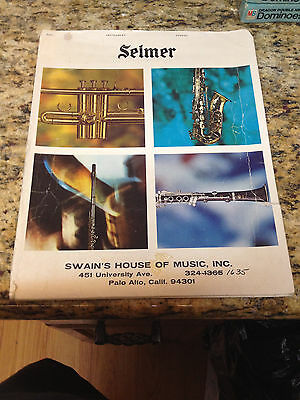 "70s Selmer Band folio folder for school band music , 11"" x 14"""