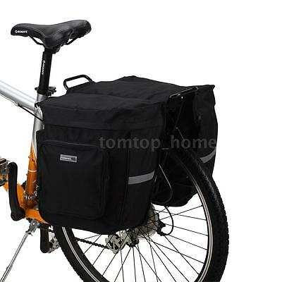 ROSWHEEL 30L Cycling Bicycle Double Side Rear Rack Tail Seat Bag Pannier D7S1