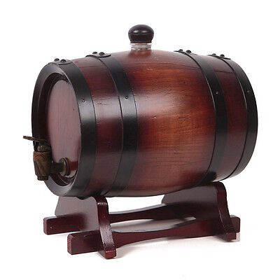 0.75L Home Wooden Wine Barrel Whiskey Beer Keg Oak Barrel Brewing Container