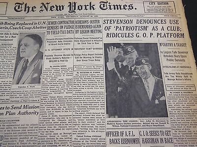Image result for August 27 1952 nyt