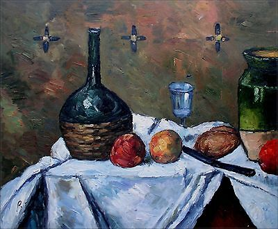 Hand Painted Oil Painting Repro Paul Cezanne Still Life Flask Glass 20x24in