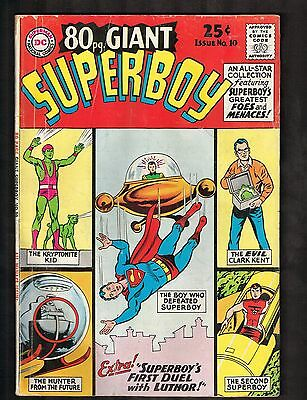 """80-Page Giant Superboy #10~ """"The Journey of the Second Superboy!"""" ~1965 (4.0) WH"""