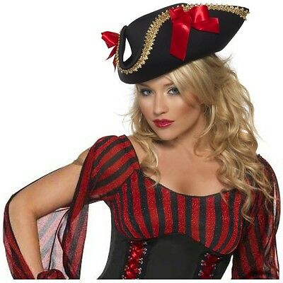 Fever Pirate Hat Costume Accessory Adult Halloween