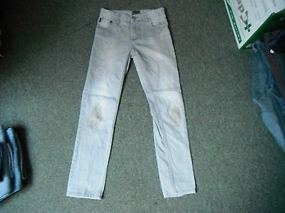 "Next Skinny Jeans Waist 27"" Leg 28"" Black Faded Boys 11 Yrs Jeans"