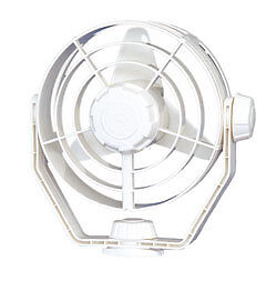 "Boat Marine RV Turbo Fan 7-5/8"" 12 Volt 2 Speed White Low Amp. Draw"
