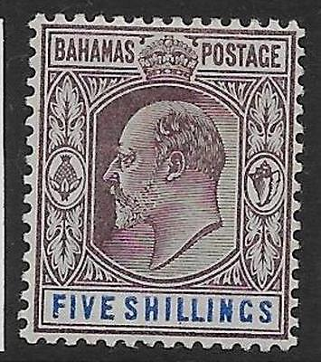 Bahamas Sg69 1902 5/= Dull Purple & Blue Mtd Mint